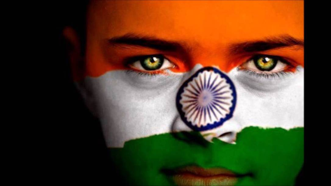 indian-flag-face-paint