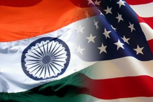 india and usa flags overlapping